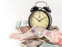 Maximise your sales - Clock and money image