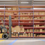 Warehouse stock forklift