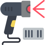 Barcode solution scanner icon.