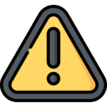 Icon of a black and yellow warning error symbol. Used in a Bit Systems manufacturing software solution blog.