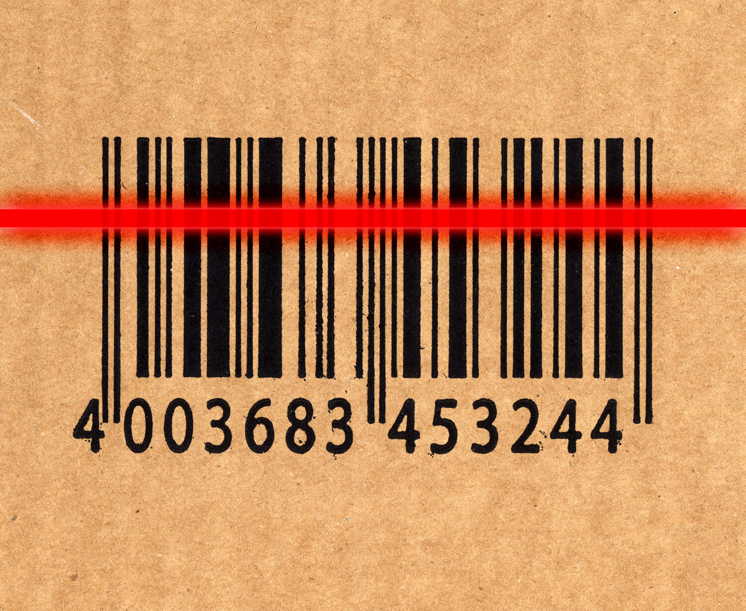close up image of barcode on cardboard