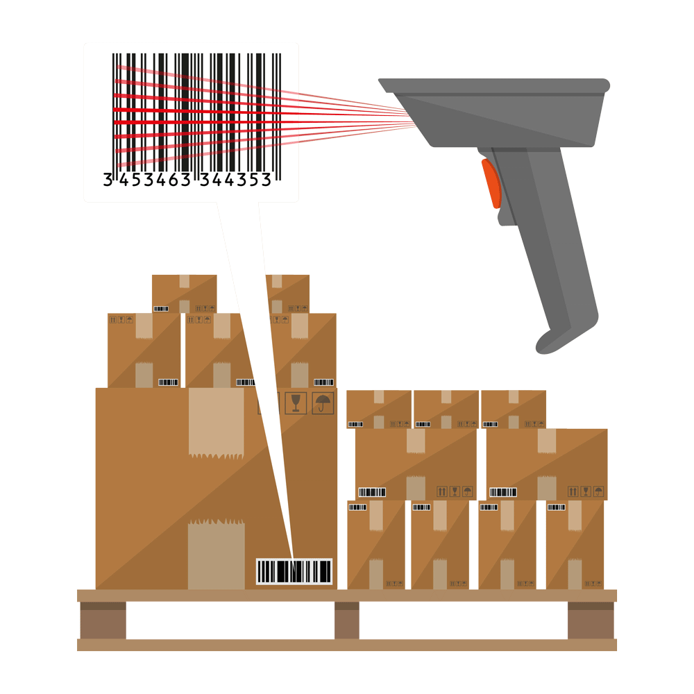 barcoding scanner illustration